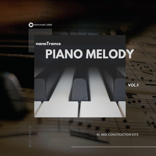 nanoTrance Piano Melody MIDI Pack Vol 1