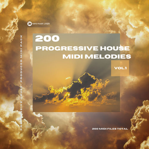 200 Progressive House MIDI Melodies Vol 1 MIDI PACK